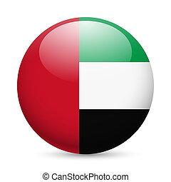 Rund glänzende Ikone der UAE