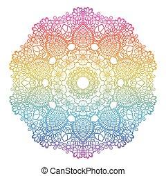 Runder Regenbogen Mandala Hintergrund.