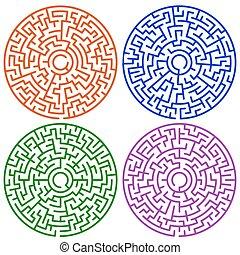 Rundes Labyrinth.