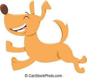 Running Dog oder Welpe Cartoon Charakter.