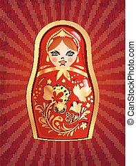 Russische Puppe, Vektorgrafik, Eps 10