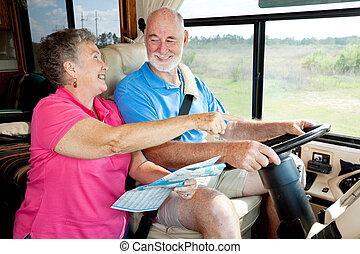 RV Senioren geben Anweisungen