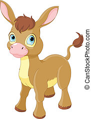 Süß lächelnder Esel.