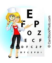 Süße Ärztin - Augenarzt
