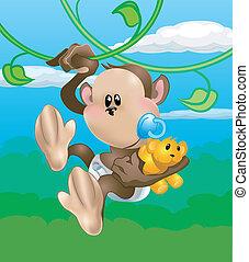 Süße Affen-Illustration
