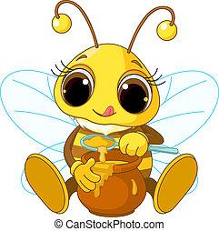 Süße Bienen essen Honig