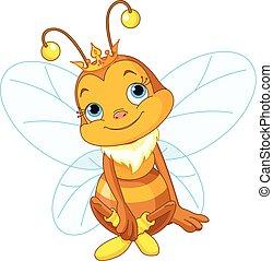 Süße Bienenkönigin.