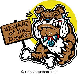 Süße Bulldogge mit Knochen.