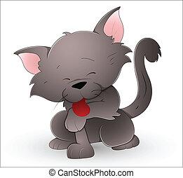 Süße Cartoon-Katze