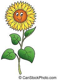Süße Cartoon-Sonnenblume
