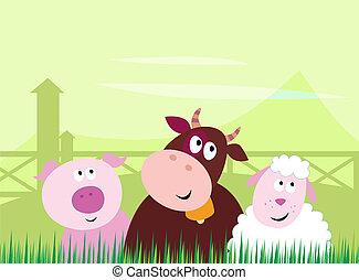 Süße Farmtiere