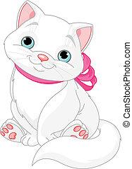 Süße fette Katze.