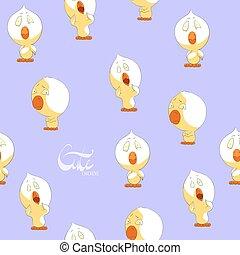 Süße gelbe Hühner.