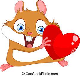 Süße Hamster valentine