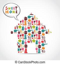 Süße Hauskarte