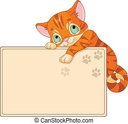 Süße Kätzchen-Einladung oder Postkarte