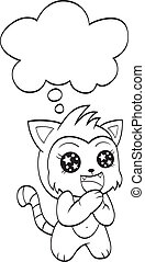 Süße Katze mit Sprachblase
