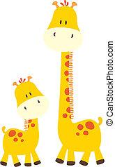 Süße kleine Giraffe