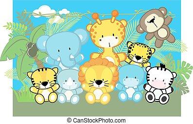 Süße, kleine Safaritiere.