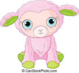 Süße Lammfigur.