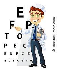 Süße Männer Doktor - Augenarzt.