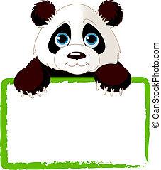 Süße Panda-Karte