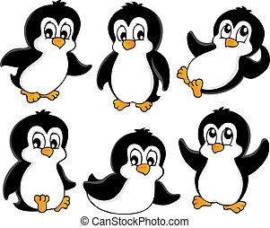 Süße Pinguine sammeln 1