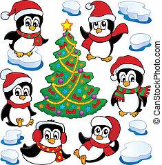 Süße Pinguinsammlung vier