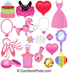 Süße rosa Prinzessin für Diva.