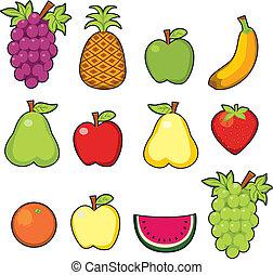 Süße saftige Früchte