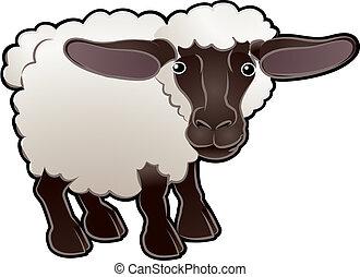 Süße Schafzuchttiervektor-Illustration