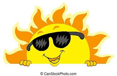 Süße Sonne mit Sonnenbrille