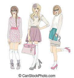 Süße Teenager-Models