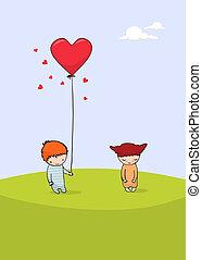 Süße Valentinskarte
