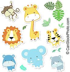 Süße Vektortiere
