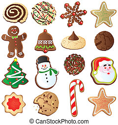 Süße Weihnachtskekse.