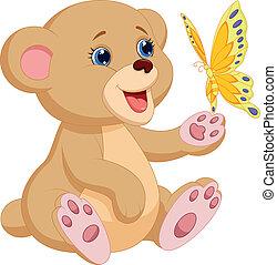 Süßer Baby-Bär-Zeichentrickfilm
