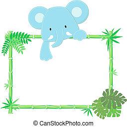Süßer Baby-Elefant-Bild