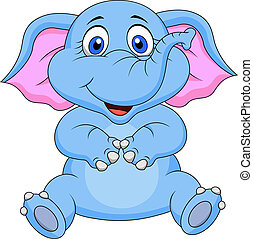 Süßer Baby-Elefant- Cartoon