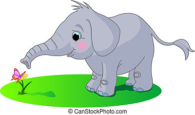 Süßer Baby-Elefant