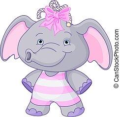 Süßer Baby-Elefant.
