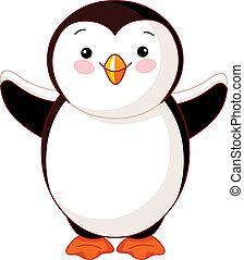 Süßer Baby Pinguin.