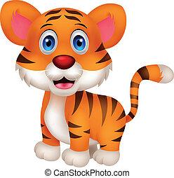 Süßer Baby-Tiger- Cartoon