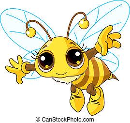 Süßer Bienenflug