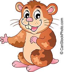 Süßer Cartoon Hamster