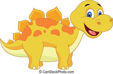 Süßer Dinosaurier- Cartoon