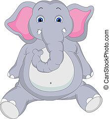 Süßer Elefanten-Cartoon
