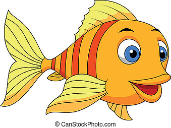Süßer Fisch Cartoon