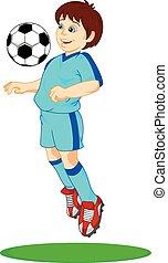 Süßer Fußballspieler.