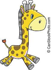 Süßer Giraffentiervektor